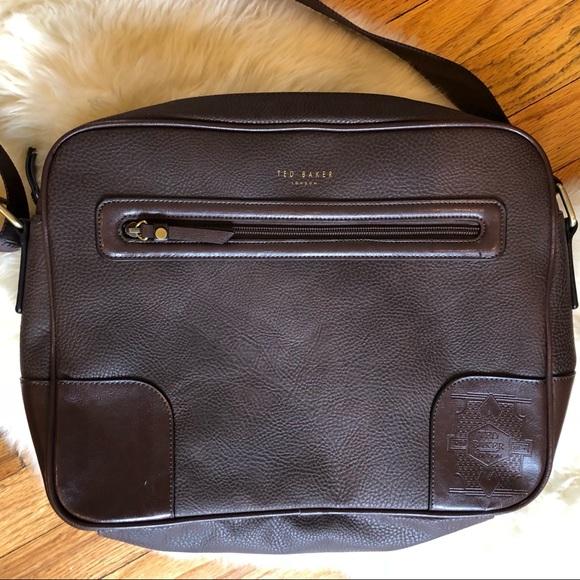 f0ff91b85 Men s TED BAKER brown leather laptop bag. M 5ad22b7c3afbbde5f0fba52b